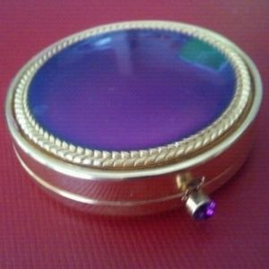 Vintage Gold & Purple Estee Lauder Powder Compact